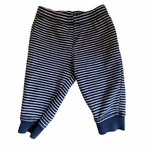 5/$15 Carters Striped Pants 6 months Navy White